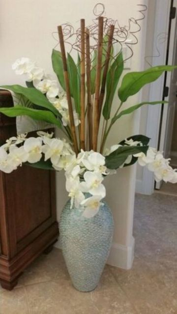 arreglos florales artificiales para salas orquideas