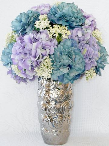 arreglos florales artificiales para salas pintadas