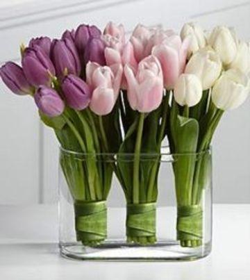 arreglos florales artificiales para salas tulipanes