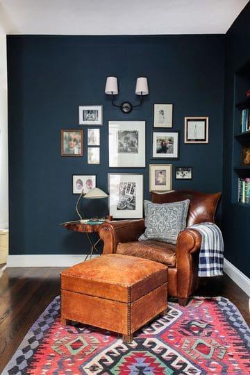 colores de moda para paredes de salones pequeños