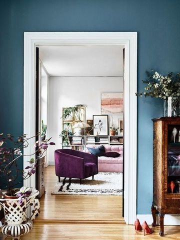 Sugerencias en colores de moda para paredes de salones - Colores azules para paredes ...