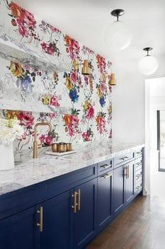 decoracion de interiores cocinas con estampado