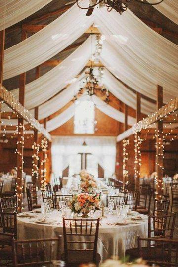decoracion de local para matrimonio de noche