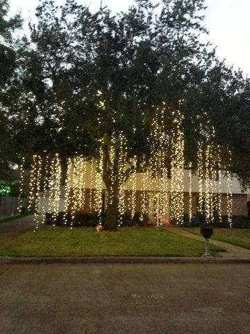 decoraciones con luces de navidad arbol