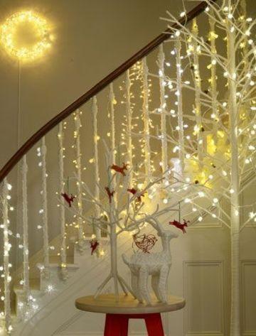 decoraciones con luces de navidad interiores