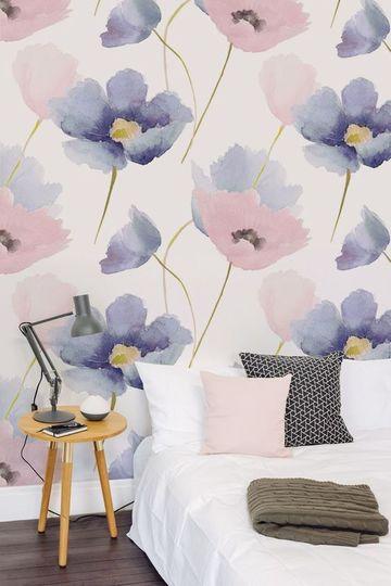 decoraciones para paredes de habitaciones flores