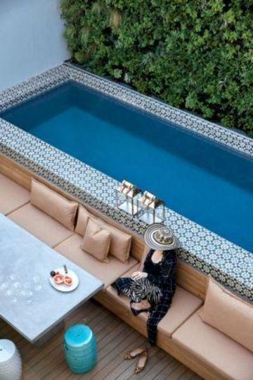 diseños de albercas pequeñas para terrazas