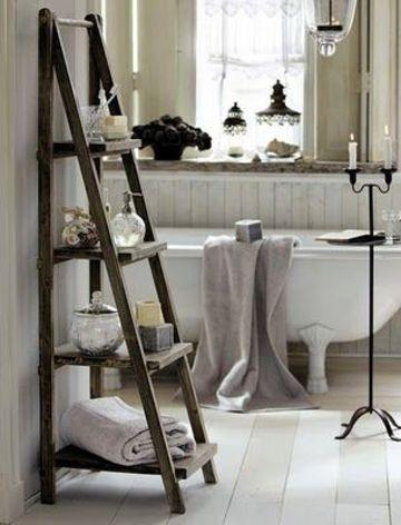 estanterias de pie para baño tipo escalera