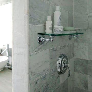 estantes para dentro ducha de vidrio