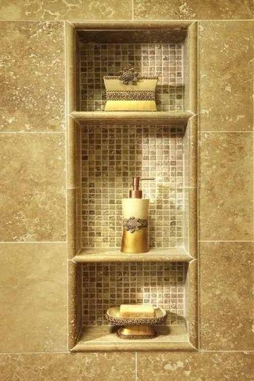 estantes para dentro ducha en mosaico