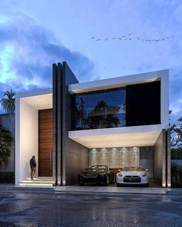 exteriores de casas modernas con ventanales
