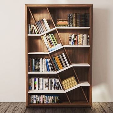 imagenes de estantes de madera diagonal