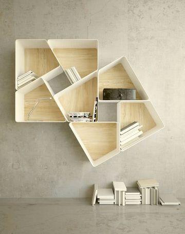 imagenes de estantes de madera flotante