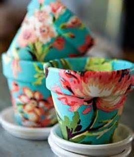 imagenes de macetas decoradas flores