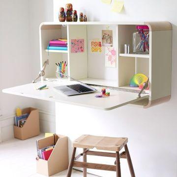 mesas de estudio para niños con organizador