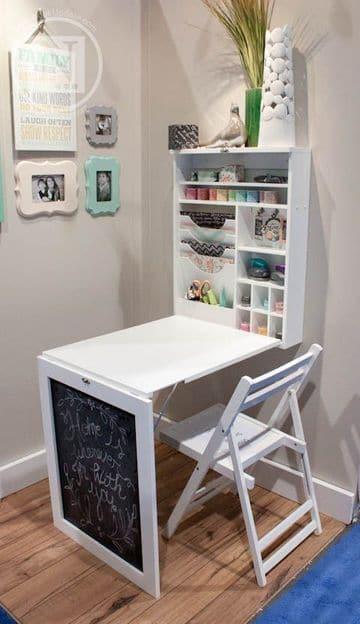 mesas de estudio para niños para ahorrar espacio