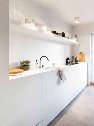 modelos de repisas para cocina minimalista