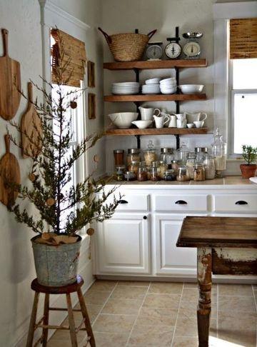 modelos de repisas para cocina rustica