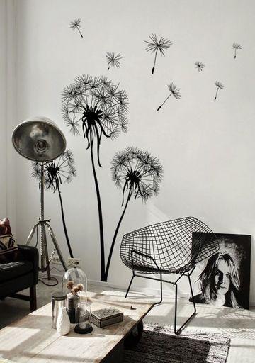 paredes decoradas con flores sencilla