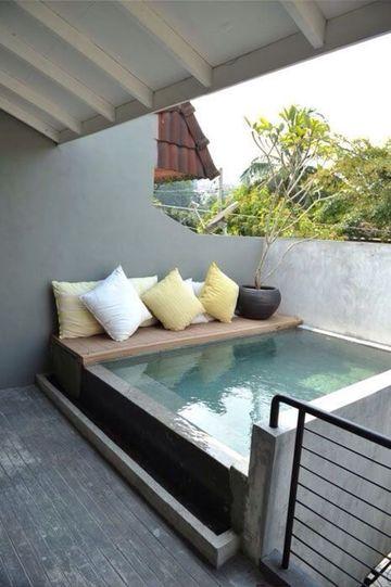 piscinas pequeñas para terrazas techadas