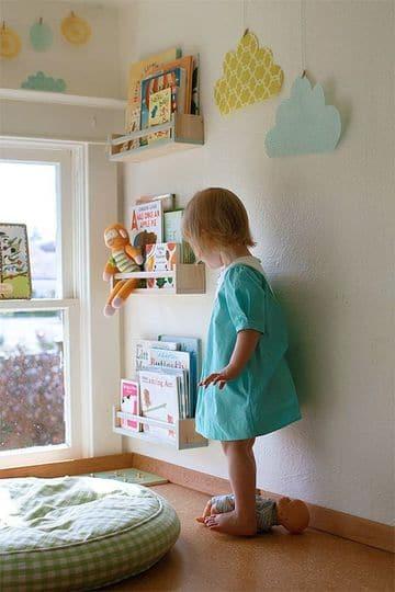 repisas para dormitorios de niños de pared