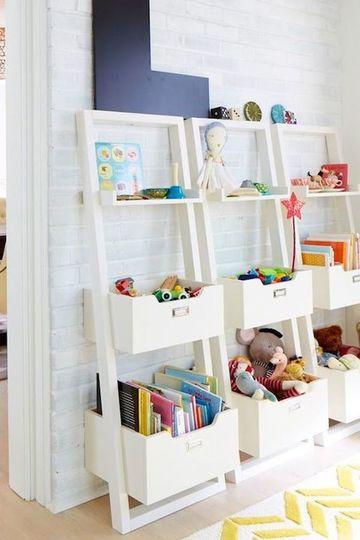 repisas para dormitorios de niños para juguetes