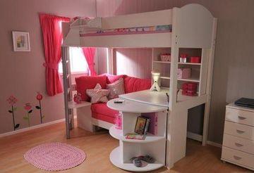 camas para niñas con escritorio y sofa