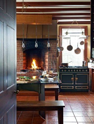 cocinas rusticas con chimenea estilo colonial