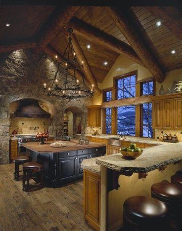 cocinas rusticas con chimenea