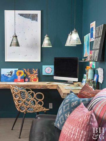 como acomodar una oficina pequeña rustica