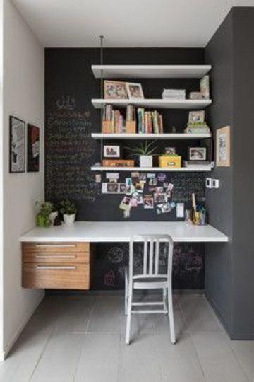 como decorar mi oficina de trabajo en poco espacio