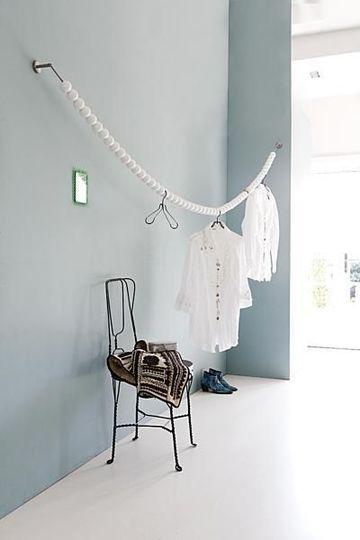 como hacer un perchero para ropa economico