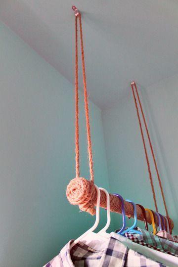 como hacer un perchero para ropa facil