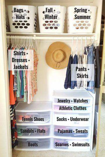 como organizar un placard de ropa