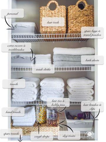 como organizar un placard de toallas