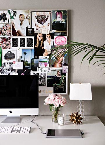 decoracion de escritorios de oficina con fotos