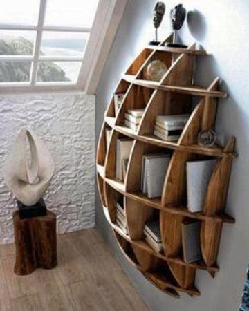 estanterias modernas para libros de madera