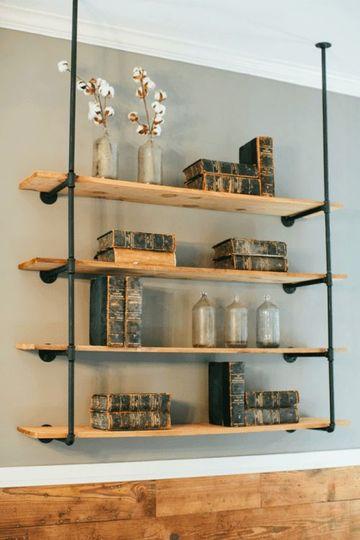 estantes de madera para pared colgante