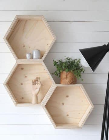 estantes de madera para pared modernas