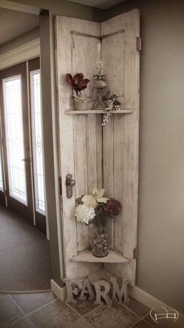estantes de madera para pared vintage