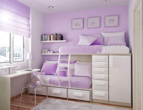 muebles para habitacion de niña en lila