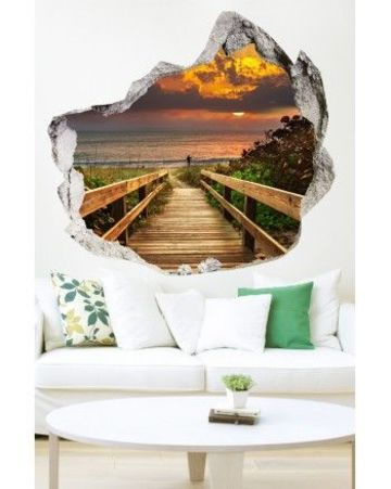 murales de paisajes para pared 3D