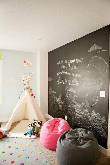 pared de pizarra para niños completa