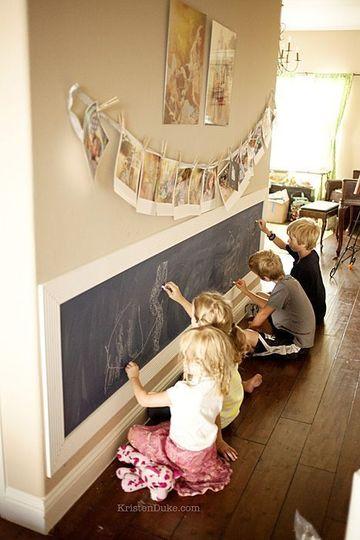 pared de pizarra para niños para varios