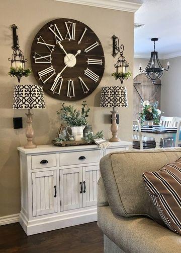 Dise os de relojes de pared modernos para salon - Relojes para decorar paredes ...
