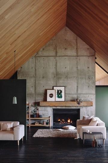 salones rusticos con chimenea modernos