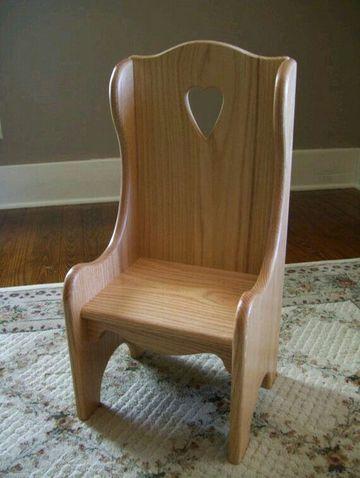 sillones de madera para niños estilo rustico