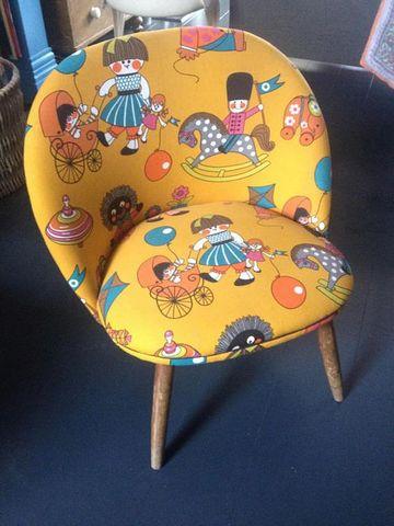 sillones de madera para niños estilo vintage