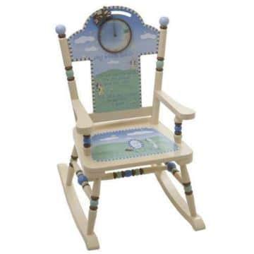 sillones de madera para niños mecedores
