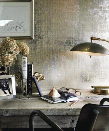 acabados en paredes interiores con pintura metalizada